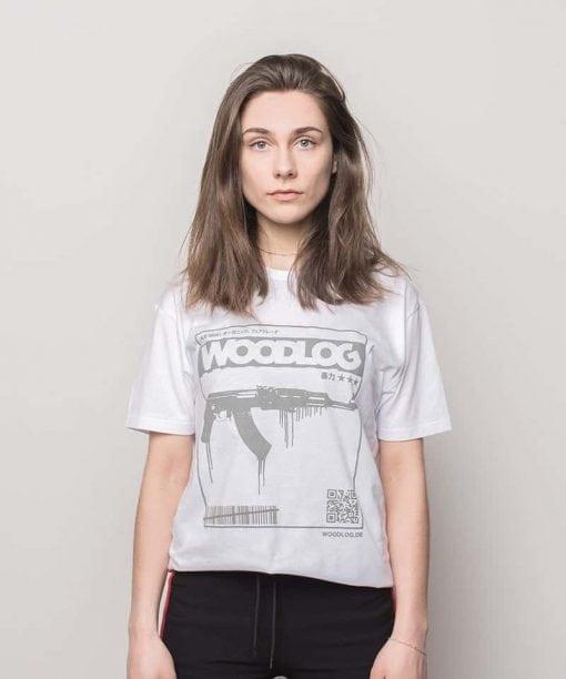 AK47 Grey Shirt White Women