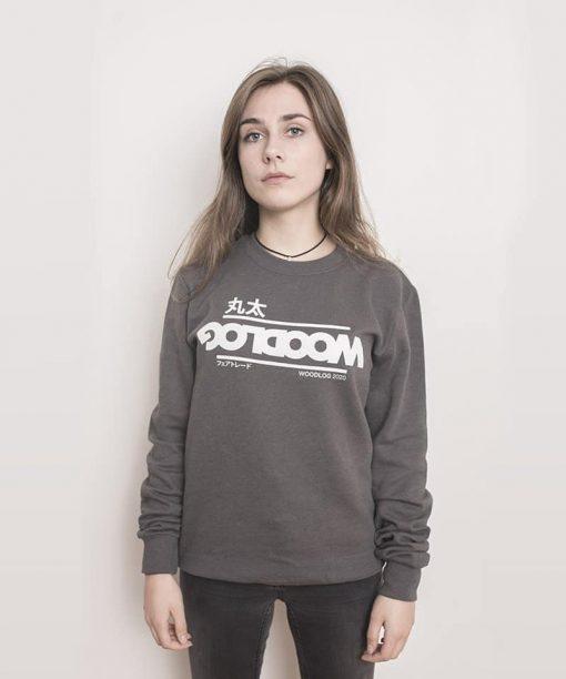 Big in Japan Sweater Dark Grey Women