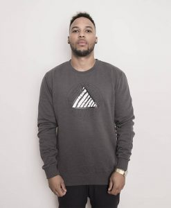Triangle Logo Sweater Dark Grey Men