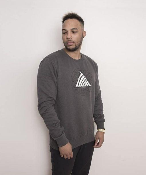 Triangle Logo Sweater Dark Grey Men