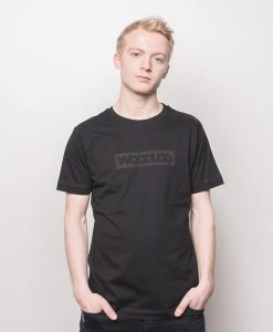 Woodlog Boxed Black on Black Shirt Bamboo Black Men