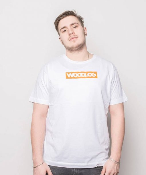 Woodlog Boxed Neon Shirt White Men