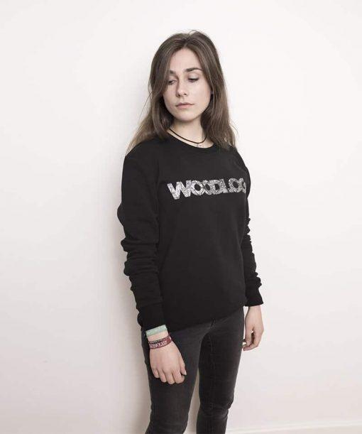 Woodlog HH City Map Sweater Black Women