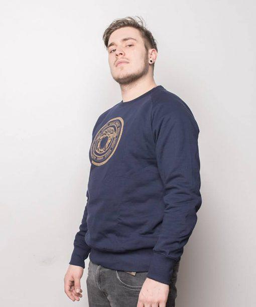 Medusa Gold Sweater Navy Men