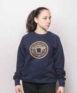 Woodlog Medusa Gold Sweater Navy Women