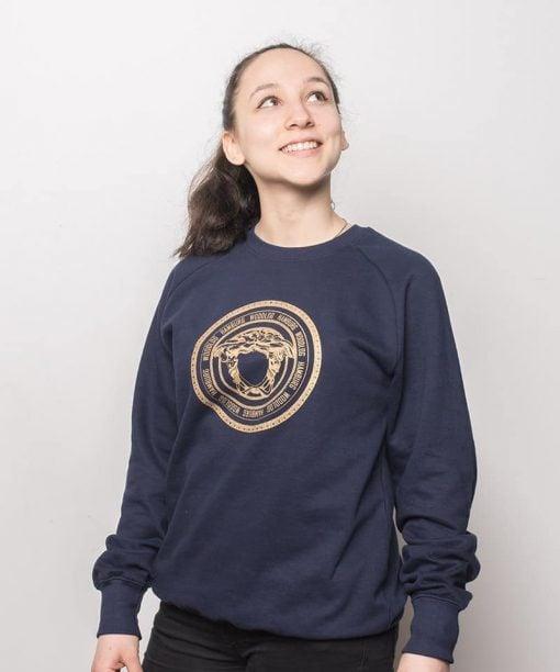 Woodlog Medusa Gold Sweater Navy Women